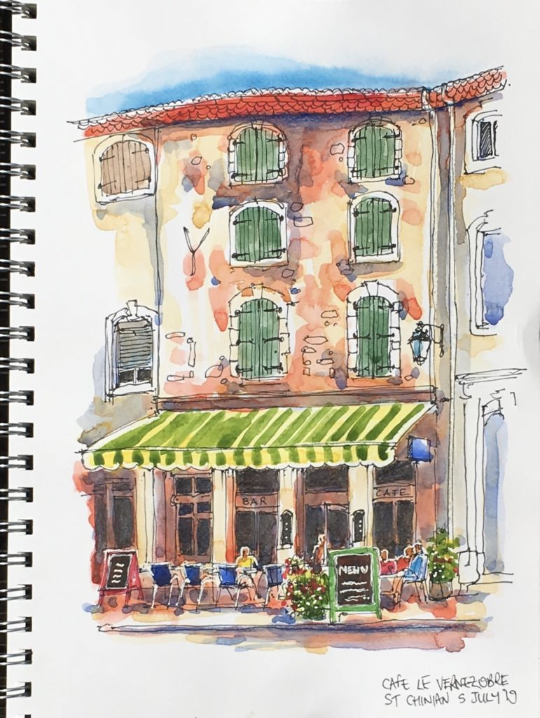 cafe culture | Join us for a 3-night break in the beautiful riverside village of Bize-Minervois. A fun short holiday ideal for beginners or experienced sketchers!