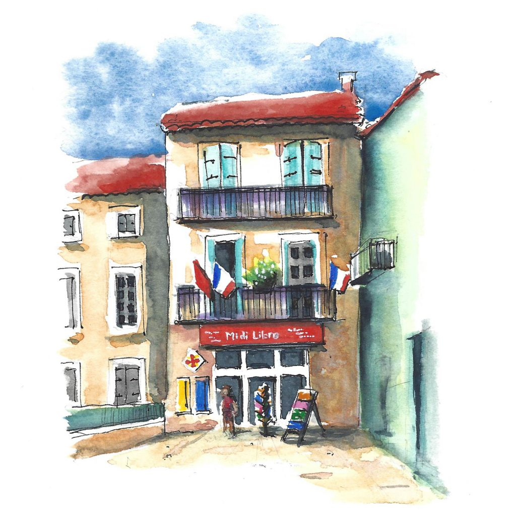 | This 3-hour workshop is for beginners as well as more experienced sketchers. Materials provided if you do not have your own - we'll have plenty of fun with ink and colour and you'll see this pretty town in ways you may not have done before!