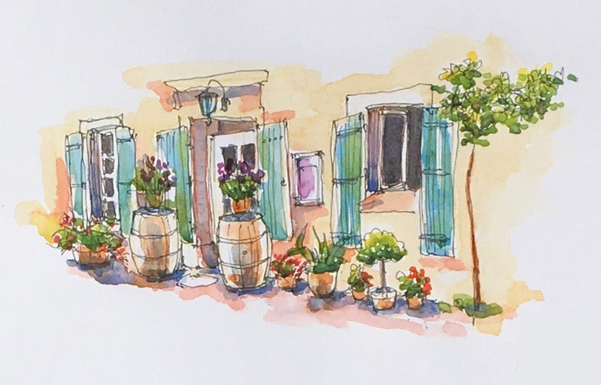 | Inspire Azille is a new arts space and atelier where you can join some of the sketching and creative workshops with Annette.