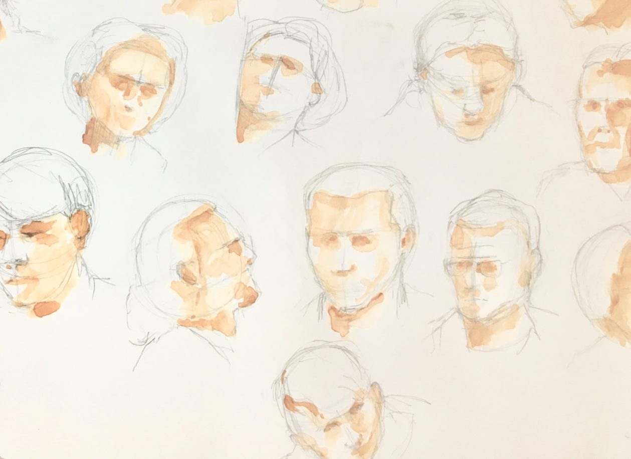 This workshop in Narbonne looks at how to sketch the human face - from different angles and in different styles - loads of fun! |