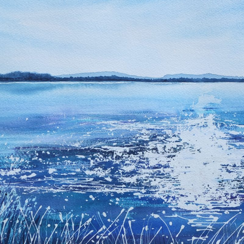 The Big Blue, Lac de Jouarres, Homps 73cm x 53cm  - FOR SALE