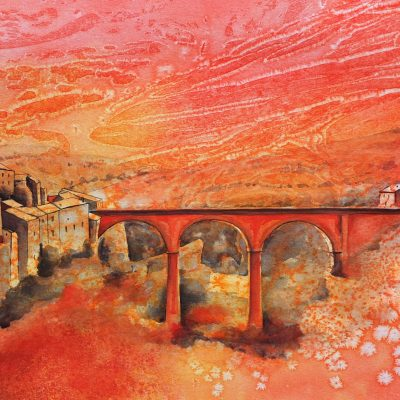 Rouge Cathare, Minerve 79cm x 63cm SOLD
