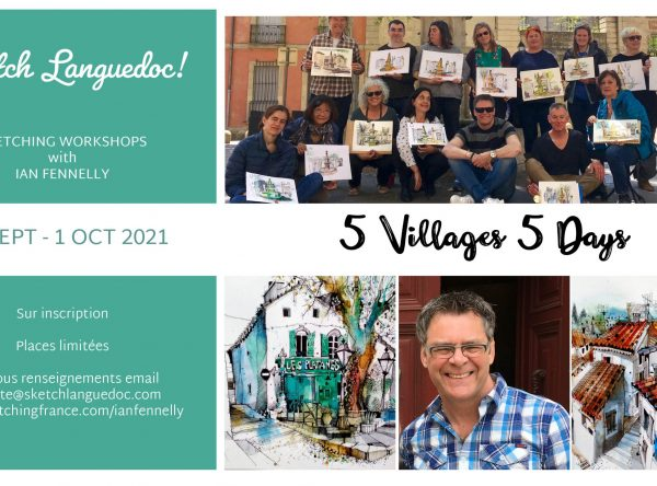 Sketch Languedoc with Ian Fennelly 2021