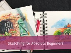 | Online tutorials, sketching workshops, creative courses and fun art holidays in France and the UK. Ink and watercolour sketches, pet portraits by arrangement