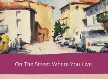 sketch the street where you live