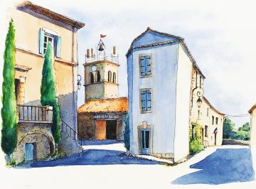villespassans watercolour
