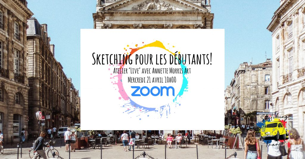 | This 3-hour workshop is for beginners as well as more experienced sketchers - plenty of fun with pen and colour!